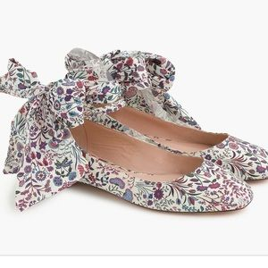J.crew ankle-strap ballet flats in Liberty floral